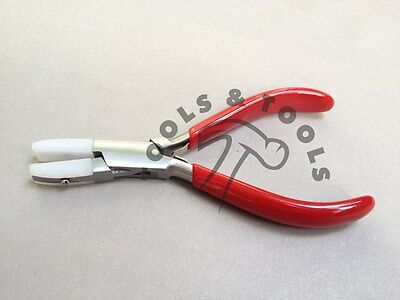 """FLAT NOSE PLIERS NYLON JAWS 5-3//4/"""" NON MARRING JEWELRY PLIERS WIRE WRAPPIN PL-04"""