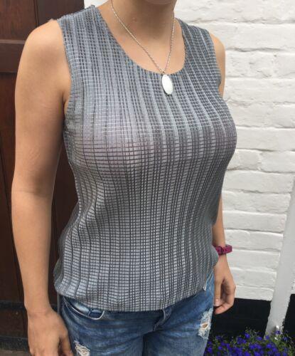no ironing needed elegant silk feel Easy wear s, m /& l pleated black top