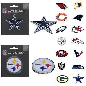 New NFL Pick your Teams Auto Car Truck Heavy Duty Metal Color Emblem