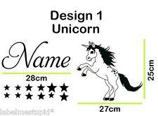 Item 8 Unicorn Pegasus Horse Wall Sticker With Any Custom Name