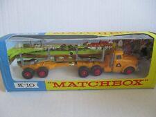 MATCHBOX K-10 King Size Pipe Truck OVP 60er Jahre