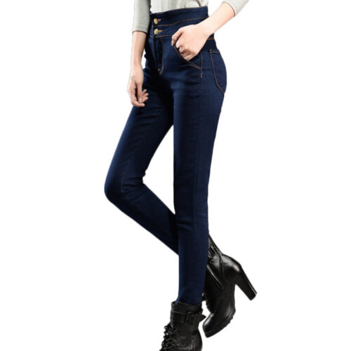 New Women High Waisted Stretch Skinny Fit Denim Jeans Jeggings Pants Size 8-18