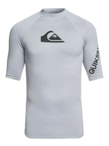 QUIKSILVER MENS RASH VEST.NEW ALL TIME UPF50 GREY RASHGUARD TOP T SHIRT 9S 36SG