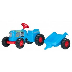 Rolly Toys Classic Trac avec remorque sans chargeur frontal Traktor Trettraktor Bleu