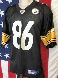 brand new fadc9 349a3 Details about Reebok NFL Equipment On Field Pittsburgh Steelers HINES WARD  Throwback Jersey L