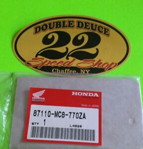 GENUINE Honda NOS 87110-MC8-770ZA EMBLEM (TYPE1) 83 FT500