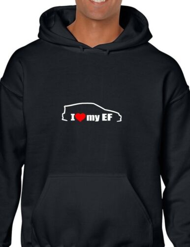 White Hoodie Heart I Sweatshirt Ef Love Honda My Civic Black Import Hooded Red wxcqafXS