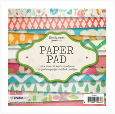 STUDIO LIGHT BV Romantic Summer B QUALITY PAPER PAD 36 Sheets 15cm x 15cm PPRS36