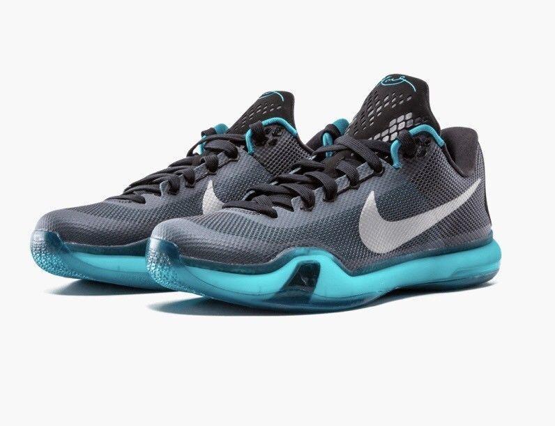 Nike Kobe 10 X LIBERTY Mens Basketball Black Emerald (705317-002) MENS 9 US