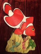 Fish Tank Aquarium Bathroom Pond Decoration Realistic Clown Fish LARGE NEW