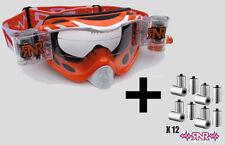 Híbrido RNR completamente cargado Motocross Racer Gafas + película Rollo-Pack De Naranja