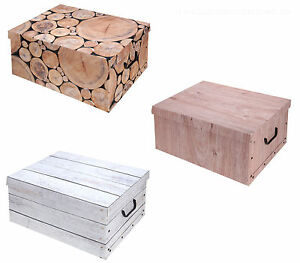 aufbewahrungs box mit deckel purenature kiste karton schachtel ebay. Black Bedroom Furniture Sets. Home Design Ideas