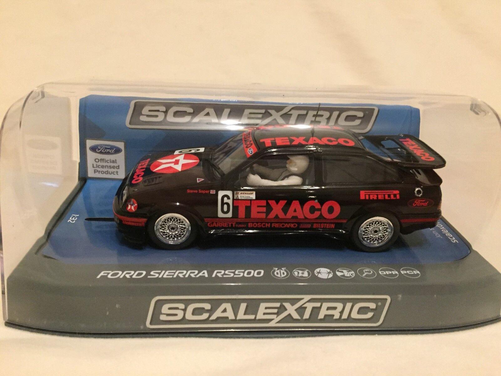 Brand New Scalextric Ford Sierra Cosworth RS500 Texaco Steve Soper C3738 No6