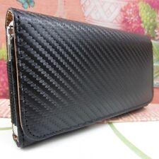 Carbon Fiber Premium Leather Belt Clip Case for Samsung Galaxy Note III 3 N9000