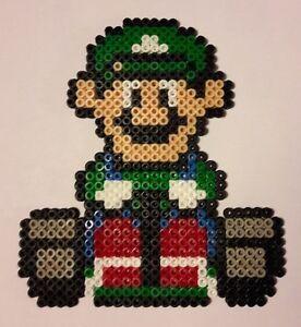 Luigi Kart Mario Bead Sprite Perler Pixel Art Ironing Beads Ebay