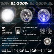 """3.5"""" inch / 90mm Xenon White Fog Light Kit w/ Blue Accent Fog Lamp Install Kit"""