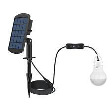 NEW High-efficiency Solar-powered LED Bulb Li-ion 3.7V/1800mAh Battery Panel