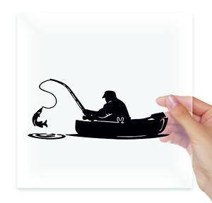 Fisherman-in-a-boat-fishing-Vinyl-Sticker-Decal-Laptop-Moto-Car-Auto-Bumper-Art
