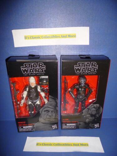 Star Wars The Black Series Dengar & 4-Lom  6 Figure 2-Set Bounty Hunters New