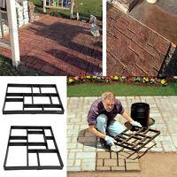 1/2/4pcs Diy Pathmate Stone Road Mold Manually Paving Cement Brick Lawn Path Us