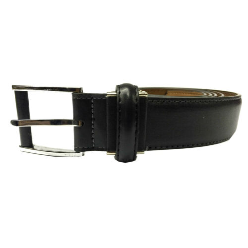 32mm Black Mens Soft PU Leather Great Quality Dress Trouser Suit Belt YC014