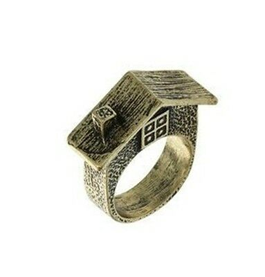 B1100 New Design Handmade Fashion Vintage Antique Fashion Warm House Ring Size 7