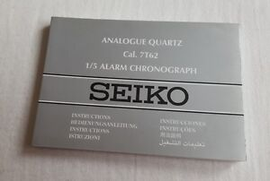 seiko 7t62 analogue quartz alarm chronograph timer watch instruction rh ebay com seiko coutura chronograph 7t62 manual seiko instructions 7t62