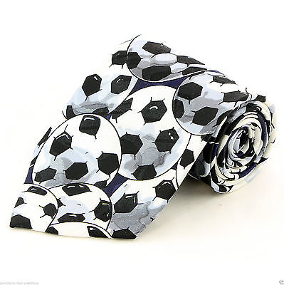 New! Lots of Soccer Balls Sports Coach Novelty Necktie #242