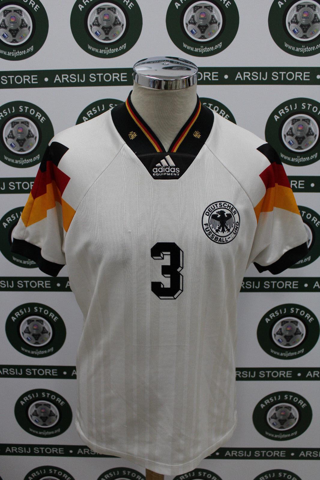 Maglia calcio shirt maillot camiseta trikot BREHME GERMANIA TG S 1992 NO RIPROD