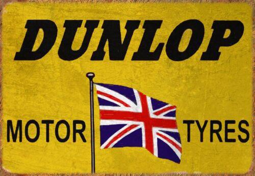 Dunlop Motor Tyres Sign Plaque Great gift for a Car enthusiast Garage workshop