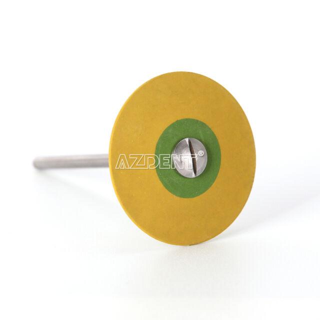 Dental Rubber Diamond Polisher Wheel Disc Porcelain Zirconia Extra Fine