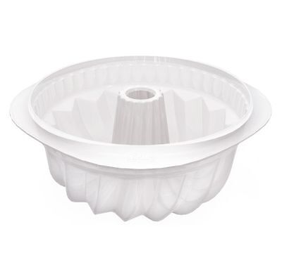 Lékué Gugelhupf Crystal 22 cm Backform Kuchenform Kuchen rund Napfkuchen
