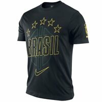 Nike Brazil - Brasil World Cup Wc 2014 Soccer Stars Core Fan Shirt Black