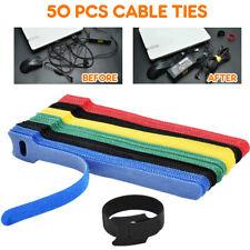 patu AA062 Reusable Fastening Cable Ties Microfiber Cloth Hook and Loop Cord