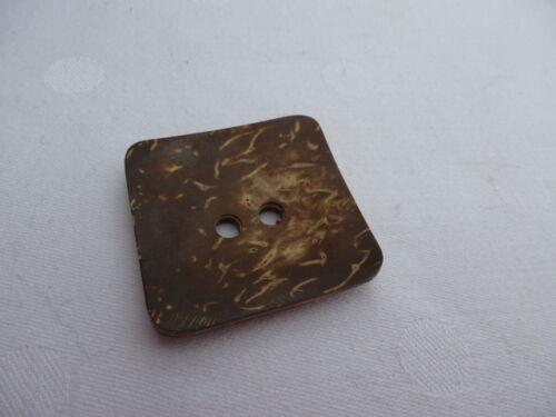 Knöpfe Knopf Kokos  36mm viereckig 2 Loch braun beige