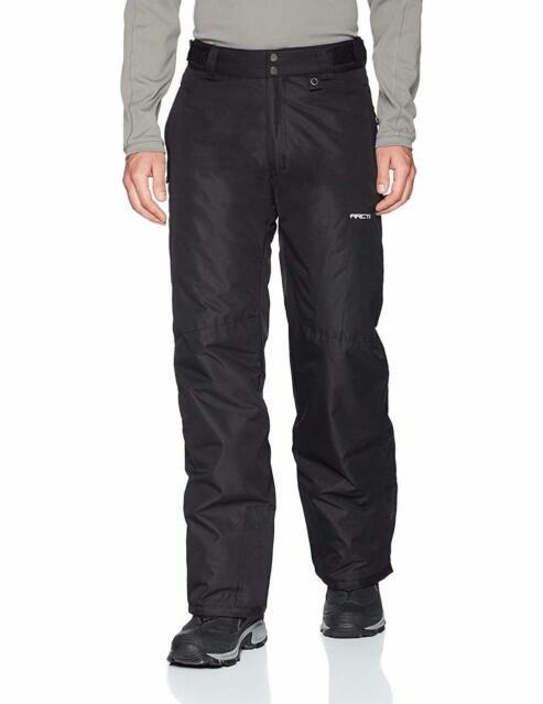Men/'s Snow Ski Pants Insulated Warm Skiing Slopes Clothing X-Large Regular Black