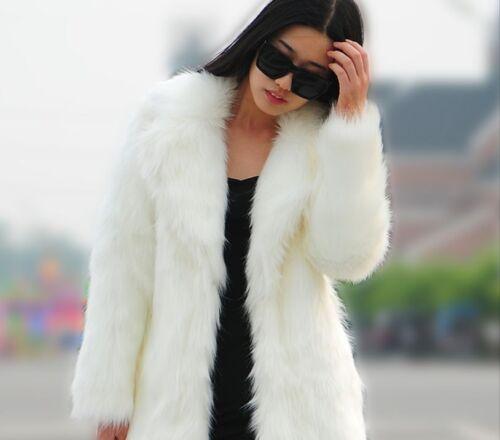 Fuldlængde Tøj Fur Ladies Nye Oversize Faux Women's Frakke Long Tykkelse Y8pYS6x