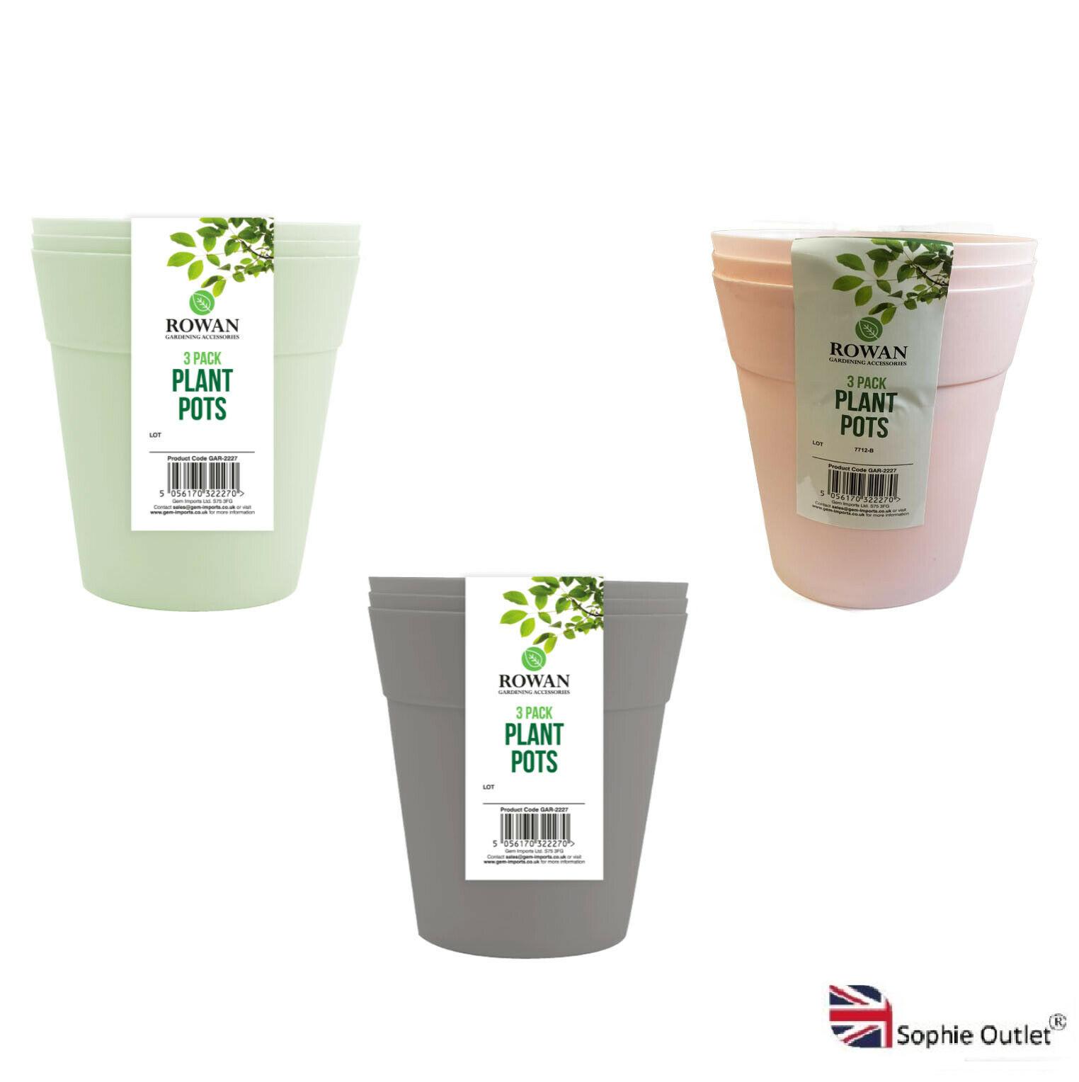 Plant Pots Round Plastic Flower Garden Outdoor Indoor Green House Home Decor UK
