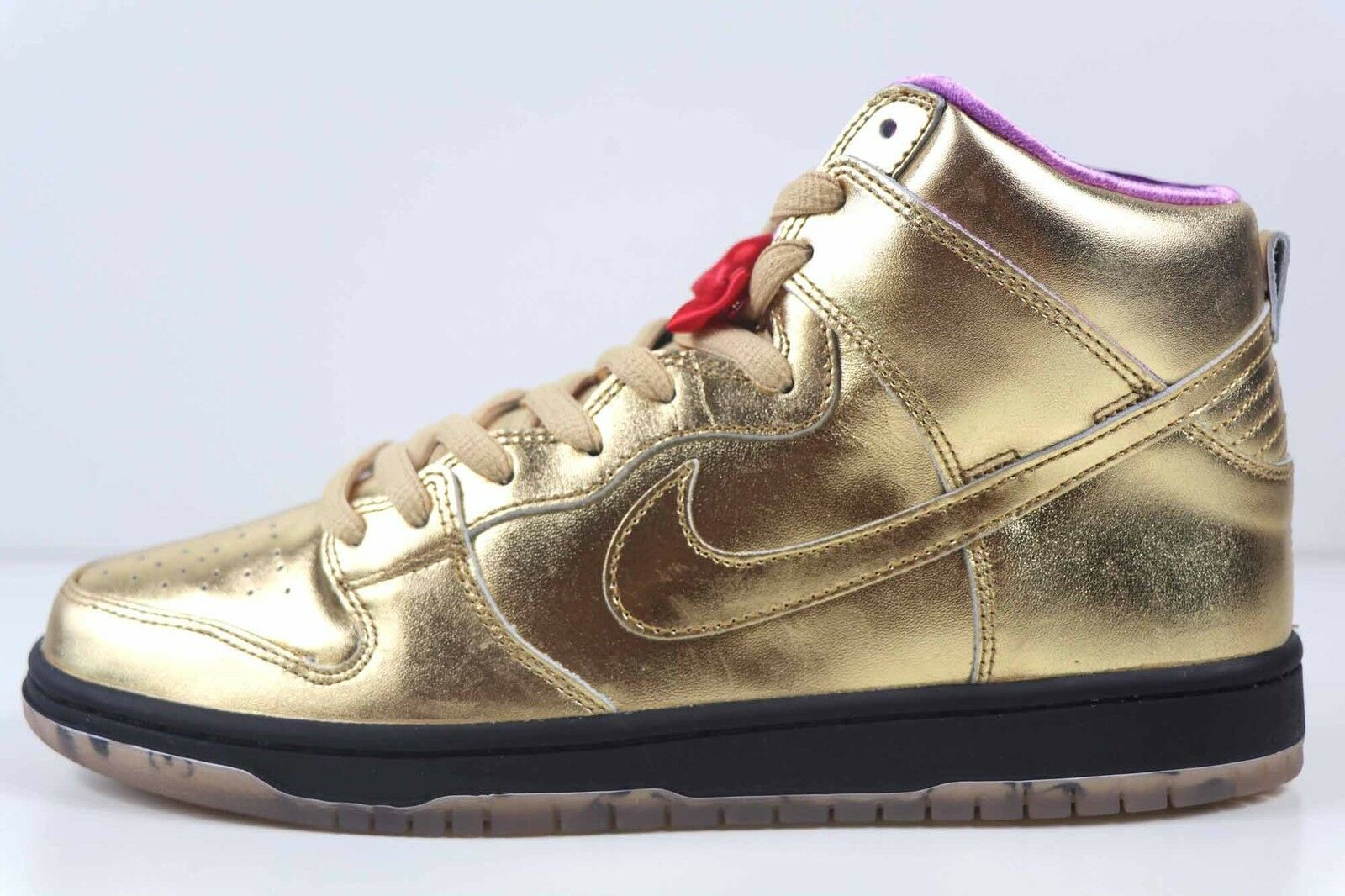 Nike Sb Dunk Alto Qs Dorato Metallico Umidità Tromba Tromba Tromba AV4168 776 Nuovo 1a8b49