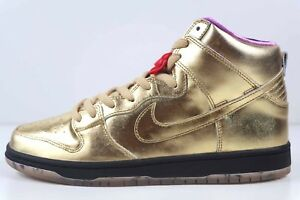 buy popular 18107 8ea24 Details about Nike SB Dunk High QS Metallic Gold Humidity Trumpet AV4168  776 New