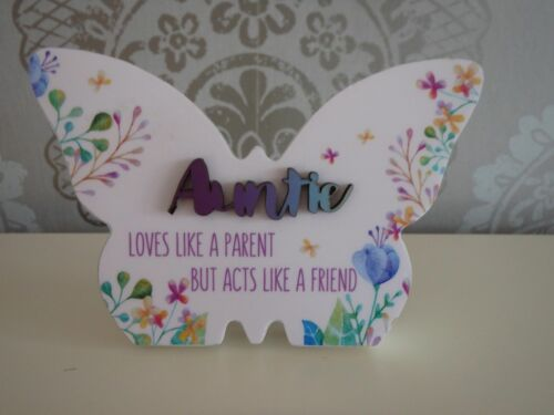 Auntie Gifts Family Gifts Someone Special Mugs Butterflys Plaques Owl Floral LED