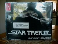 Vintage Ertl Star Trek Iii Klingon Cruiser New, In Box, Sealed 6682