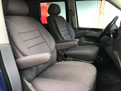 Sitzbezüge Schonbezüge VW T5 T6 Caravelle Multivan Kombi zwei Einzelsitze grau