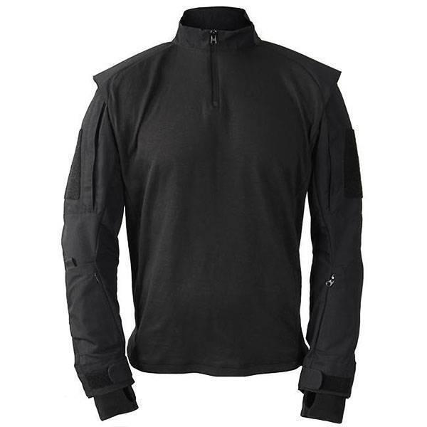1 4 Cremallera Camisa uniforme de combate Táctica Militar Camo por Propper-Negro
