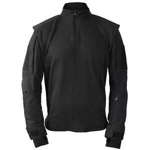 1-4-Zip-Tactical-Military-Combat-Uniform-Shirt-Camo-by-Propper-BLACK