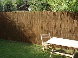 Natte en Osier Brise Vue Jardin Brise-Vue Roll- Clôture Willow | eBay