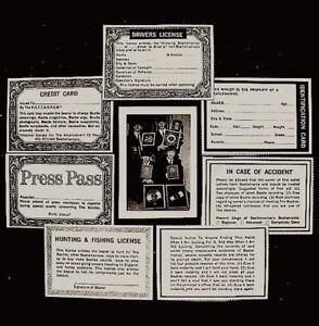 Beatles-1964-Wallet-Photo-Card-Set-Paul-John-George-Ringo-Authentic-Original-COA
