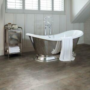 Luxury Click Vinyl Flooring Tile Metallic Grey & Copper ...