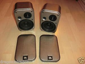 2x-JBL-Control-1G-Lautsprecher-Boxen-Silber-Made-in-Japan-2-Jahre-Garantie