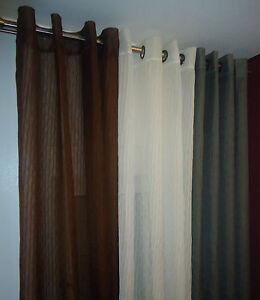 Fertig Gardine Dekoschal Store mit Ösen 145cm x 260cm gecrasht creme braun grau
